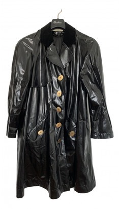 Christian Dior Black Patent leather Trench coats