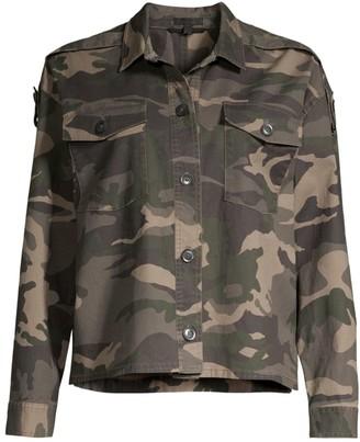 ATM Anthony Thomas Melillo Camouflage Crop Boxy Jacket
