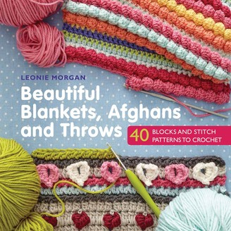 Morgan Search Press Beautiful Blankets, Afghans and Throws Crochet Pattern Book by Leonie