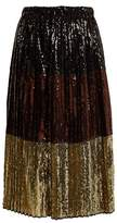 No.21 NO. 21 Sequin-embellished midi skirt
