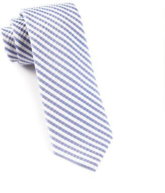Tie Bar Silk Seersucker Stripe Periwinkle Tie