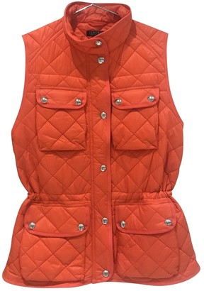 Lauren Ralph Lauren Orange Leather Jacket for Women