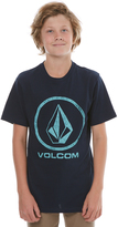 Volcom Boys Faded Stone Tee Blue