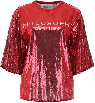 Philosophy di Lorenzo Serafini Logo Sequinned Dress
