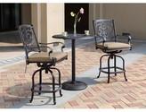 Astoria Grand Palazzo Sasso 3 Piece Counter Height Bar Dining Set with Cushions Astoria Grand Color: Antique Bronze