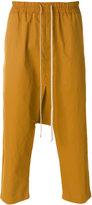 Rick Owens drop-crotch track pants - men - Cotton/Polyamide - 48