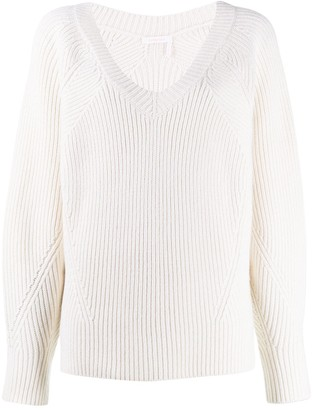 See by Chloe Oversized Ribbed Jumper