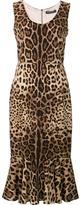 Dolce & Gabbana leopard print peplum dress - women - Silk/Spandex/Elastane - 40