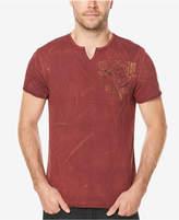 Buffalo David Bitton Men's Graphic-Print Split-Neck T-Shirt