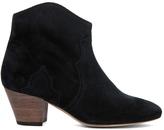 Isabel Marant Dicker Calfskin Velvet Leather Booties