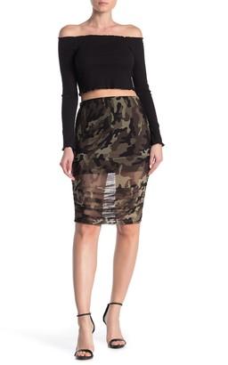 Free Press Ruched Mesh Skirt