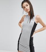 Fila Petite Sleeveless Colour Block Stripe Bodycon Mini Dress