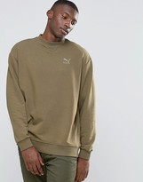Puma Oversized Heritage Sweat In Green