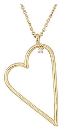 Lucky Brand Heart Pendant Necklace (Gold) Necklace