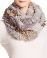Jocelyn Rabbit Fur Knit Infinity Scarf
