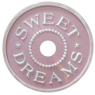 Sweet Dreams Ceiling Medallion Marie Ricci Collection, Inc. Color: Pink