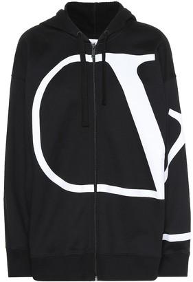 Valentino VLOGO cotton-blend zip-up hoodie