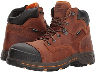 Timberland Helix HD 6 Soft Toe Waterproof (Distressed Red Brown) Men's Work Lace-up Boots