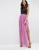 Asos Sheer Maxi Skirt with Hot Pant