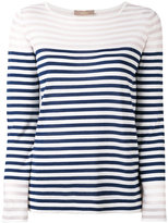 Cruciani striped print long sleeve top - women - Silk/Cotton - 40