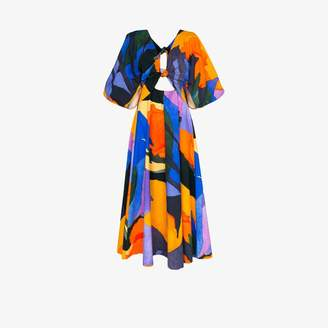 Mara Hoffman Lelia printed organic cotton maxi dress