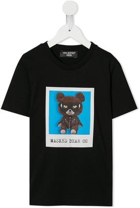 Neil Barrett Kids Masked Bear T-shirt