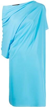Gianluca Capannolo Draped Asymmetric-Sleeve Dress