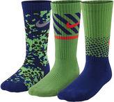 Nike 3-pk. Graphic Crew Socks - Boys