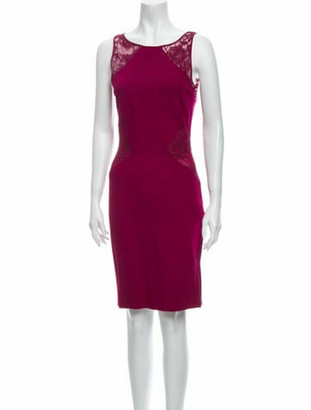 Emilio Pucci Scoop Neck Knee-Length Dress w/ Tags Purple