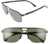 BOSS Men's 839/s 61Mm Sunglasses - Dark Ruthenium