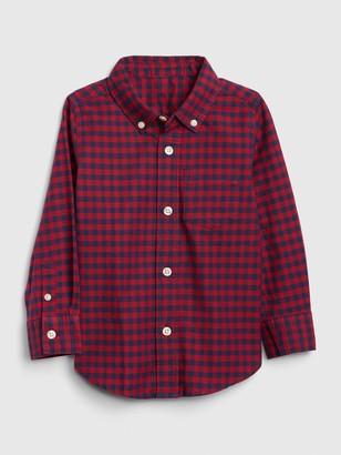 Gap Toddler Oxford Gingham Button-Down Shirt