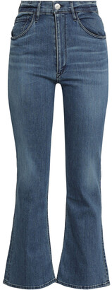 3x1 Cropped High-rise Bootcut Jeans