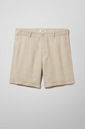 Weekday Mash Linen shorts - Beige