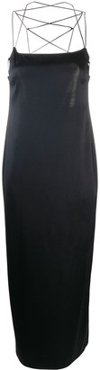 Magda Butrym Lace-Up Back Slip Dress
