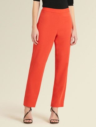 DKNY Donna Karan Women's Skinny Pant With Side Zip - Poppy - Size 00