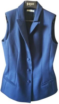Bouchra Jarrar Blue Wool Jacket for Women