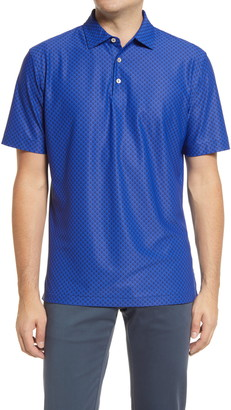 Peter Millar Hudson Skull Print Stretch Short Sleeve Polo Shirt