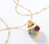 """Arte D'oro Arte d' Oro 18K Gold Bold Gemstone Pendant with 32"""" Chain"""