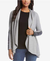 Karen Kane Raw-Edge Shawl-Collar Cardigan