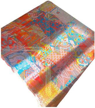 Hermã ̈S HermAs CarrA GAant silk 140 Orange Silk Scarves