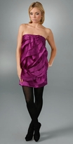Mint Jodi Arnold Strapless Rose Dress