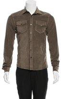 Tomas Maier Velvet Button-Up Shirt