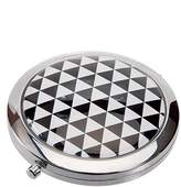 Harry D. Koenig Compact Double Mirror Round Black/White Op Art, 1-Count