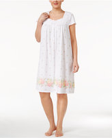 Charter Club Plus Size Border-Print Cotton Nightgown, Only at Macy's