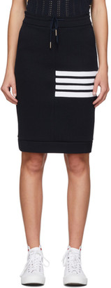 Thom Browne Navy 4-Bar Sack Skirt