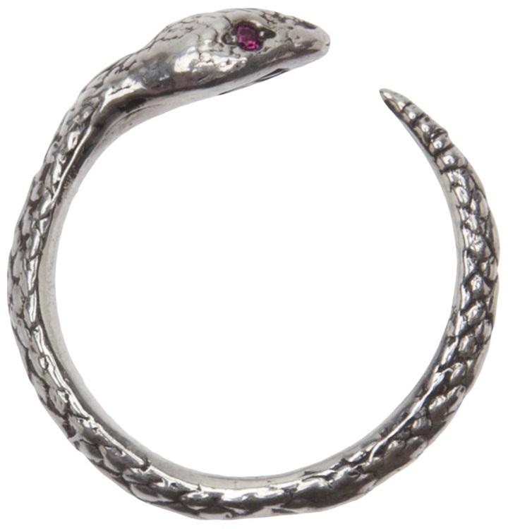 Pamela Love ruby eye serpent ring