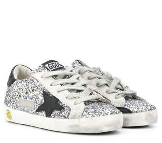 Golden Goose Kids Superstar sequin-embroidered sneakers