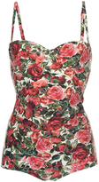 Dolce & Gabbana Floral One Piece Bathing Suit
