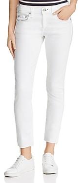 Rag & Bone Dre Raw-Edge Ankle Slim Boyfriend Jeans in White
