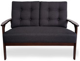 Athena Gdfstudio Waffle Stitch Tufted Accent Arm Chair With Rubberwood Legs